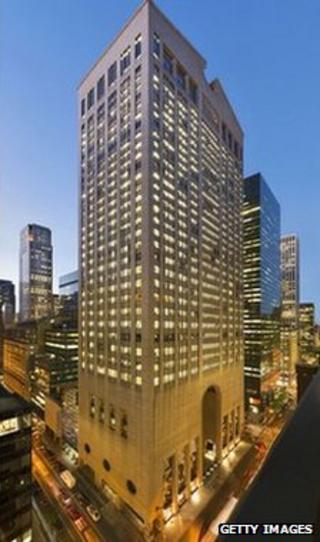 Sony's US headquarters building in Manhattan