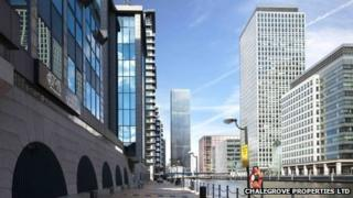 Design for the tower on the City Pride pub site