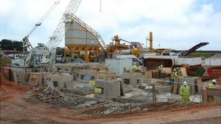 Guernsey Airport project compound operated by Lagan Construction