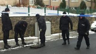 Police on Harewood Road, Oakworth
