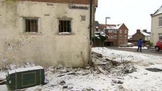Crash scene in Stokesley