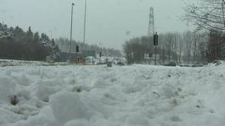 Snow in north Belfast