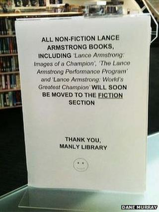 Notice in Manly Library, Sydney