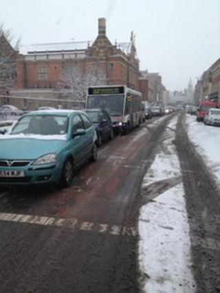 Traffic in Worcester