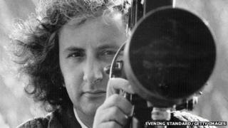 Michael Winner with film camera