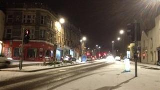 Snow on Blackboy Hill, Bristol