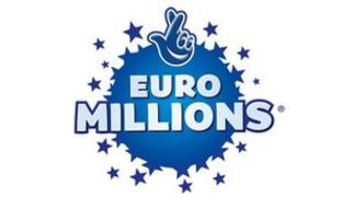 Logo for the National Lottery EuroMillions prize draw
