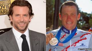 Bradley Cooper (left) and Lance Armstrong