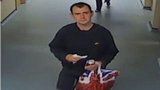 Thomas Ashcroft seen on hospital CCTV footage