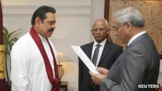 Chief Justice Mohan Peiris been sworn in on 15 January