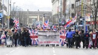 Flag protest in Belfast city centre