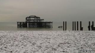 West Pier collapse - January 2013
