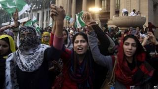 Pro-democracy protest in Lahore
