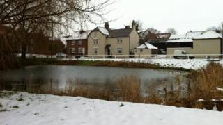 Burton Fleming covered in snow