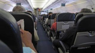 Passengers on an aeroplane