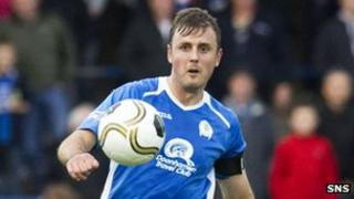 Ryan McGuffie in action for Queen of the South