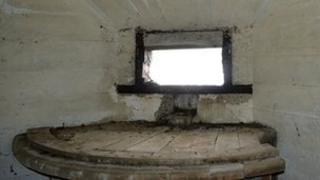 Inside Alderney's Nunnery bunker