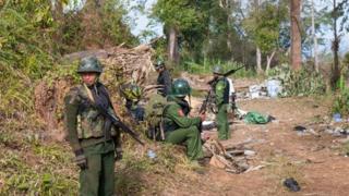 Kachin rebels on Hka Ya mountain