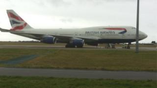 BA jet at Cardiff International Airport