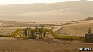 Gas pipe near Zarzaitine in In Amenas on 22/1/13