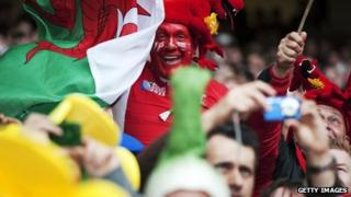 Wales fans at the Millennium Stadium in Cardiff