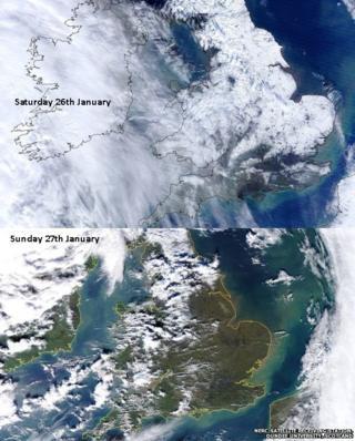 Satellite maps of UK