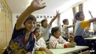 Roma schoolchildren in Hungary - file pic