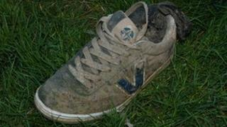 The foot was found in a Vision-brand trainer and a dark grey sock