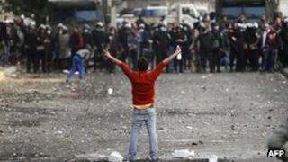 A protester takes part in a demonstration in Cairo's Tahrir Square (29 Jan 2013)