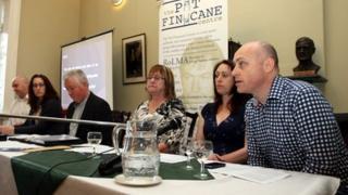 Joe McCann's relatives at press conference
