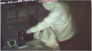 Burglar seen on Mr and Mrs Quipp's CCTV