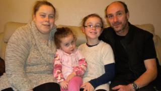 From the left: Caryl, Tirion, Hafwen and John Clarke