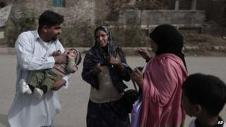Polio workers in Pakistan