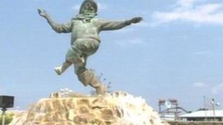 The Jolly Fisherman statue in Skegness