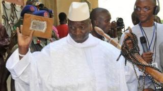 The Gambia's President Yahya Jammeh (24 November 2011)