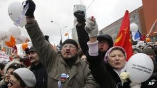 Protesters in Moscow. File photo