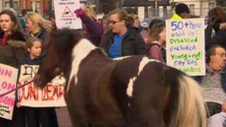 Cardiff Riding School protest