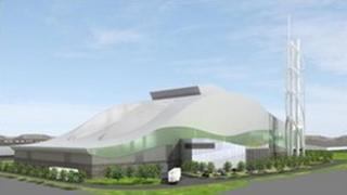 Artist's impression of a Viridor plant in Cardiff