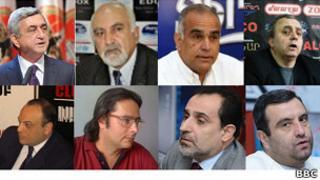 Armenian presidential candidates