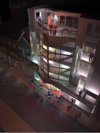 An image supplied to Hackney planning services of the proposal for site of The Theatre