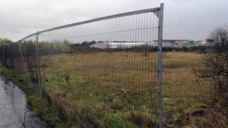 The site of the planned John Lewis store near Lisburn