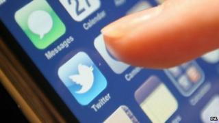 Twitter logo on smartphone screen