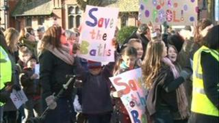 Withington Baths protest