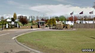 Entrance to Vauxhall Holiday Park