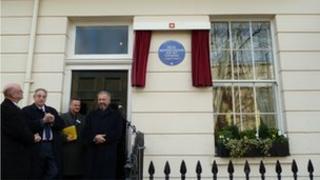 Mendelssohn blue plaque unveiling