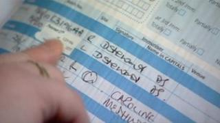 Denise Stewart's signature on vaccination record