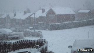 Snow in Ecclesfield, Sheffield