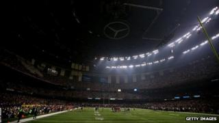 Superdome during power cut