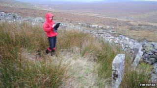 Gathering data from a graveyard in Kildonan for the app