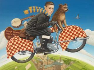 Frances Broomfield, George Formby: Speed Ace (Warrington Museum & Art Gallery / © the artist)